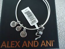 Alex and Ani SNAKE WITH CRYSTAL Rafaelian Silver Charm Bangle New W/ Tag & Box