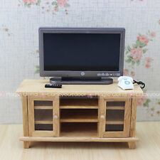 TV Cabinet Stand Table Dollhouse Miniatures 1:12 Wood Furniture Handcrafted New