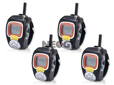 4x Digital Freetalker Walkie Talkie Two-Way Radio Hand Wrist Watch PTT headset