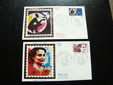 FRANCE - 2 enveloppes 1er jour 1983 (danielle casanova/anee commu) (cy46) french
