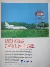 3/1992 PUB ALENIA FINMECCANICA RADAR SYSTEMS DASSAULT FALCON ORIGINAL AD