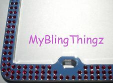 Embedded RUBY Crystal BLING Rhinestone License Plate Frame w/ Swarovski Elements