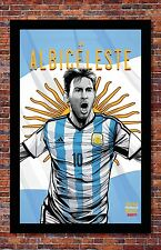 FIFA World Cup Soccer Event Brazil | TEAM ARGENTINA Poster | 13 x 19 inches
