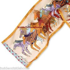 Laurel Burch Native Horses Silk Neck SCARF Wrap Ivory New