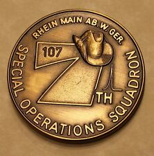7th Special Operations Squadron Rhein Main Serial #107 Air Force Challenge Coin