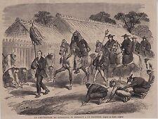 1864  --  JAPON  LE GOUVERNEUR DE KANAGAWA SE RENDANT A UN INCENDIE   3H350