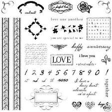 FISKARS Clear Stamps ROMANCE HUGE 8x8 Set LOVE CHERISH