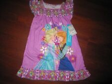NWT Disney Store Frozen Anna Elsa Nightshirt/Nightgown Size 4