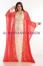 EXCLUSIVE FANCY KAFTAN ARABIAN PARTY WOMEN DRESS ABAYA JALABIYA ISLAMIC WEAR 198