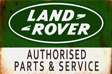 Land Rover Parts & Service  Galvanized Metal  Enamel Painted Display Piece