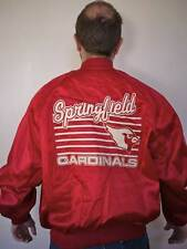 Vintage 70s SPRINGFIELD VIRGINIA CARDINALS Shiny Red Nylon BASEBALL JACKET Parka