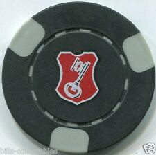 (3) KEY Logo poker chips samples