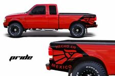 Ford Ranger 1998-2000 Custom Graphic Rear Decal - Pride Matte Black Vinyl