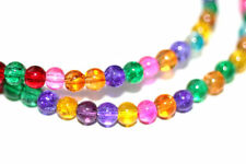 150pc 4mm Green Pink Purple Yellow Loose Beads-Glass beads 1-3 day Shipping