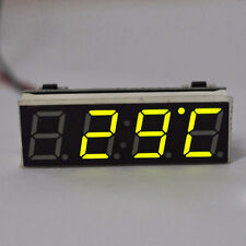 3 IN 1 12V 24V Car Auto Digital Led Electronic Time Clock Thermometer Voltmeter