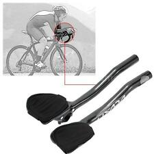 Carbon Fiber Road Bicycle Aero Bar Rest Handlebar Aerobar 31.8mm Grey NEW S4M0