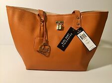 BCBG PARIS LARGE CAMEL REVERSIBLE LOCK TOTE HANDBAG NWT MSRP $168!