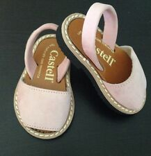 NWT Pink Baby/toddler Castell Menorquinas Sandals Suede - EU 18/ US 3