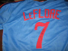 Expos Ron Leflore signed Jersey  w/COA