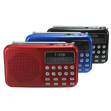 SD/FM Radio Portatile MINI LETTORE MP3 USB Wireless a LCD Luce RADIOFONICO MEDIA