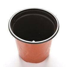Portable 10Pcs Plastic Round Flower Pot Planter Home Garden Decor Flowerpot Lot