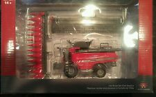NEW! 1/64 Massey Ferguson 9545 combine w/ singles, corn & grain head, Spec Cast