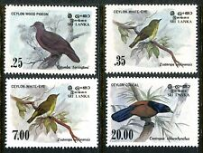 Sri Lanka 691-694 MNH Birds 1983 Ceylon wood pigeon White-eye,Dusky-blue  x16350