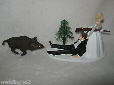 Wedding Party Reception Wild Boar Hog Redneck Hunter Hunting Cake Topper
