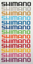 2 x 20cm Long Shimano Bike Stickers Vinyl Decal Cycle Gears Seat Box Frame