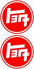 "(2)TOYOTA TEQ DECALS (3"") for HIGH PERFORMANCE & STREET RACING PARTS,HOTROD,JDM"