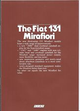 Fiat 131 Mirafiori 2000 TC CL Diesel 1982 English Language Brochure