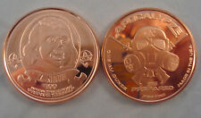 "1oz"" Ben Franklin Z-Note ""Copper Round Bullion Apocalypse Zombie Coin"