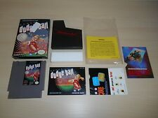 Super Dodge Ball Complete Nintendo NES Game CIB Dodgeball