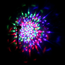 LED Rotating Disco Light Party Lamp  Decorative RGB Crystal Bulb DJ party