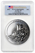 2012 25C 5 Oz Silver ATB Beautiful Acadia PCGS MS69 DMPL First Strike SKU39009