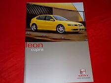 SEAT Leon Cupra Prospekt von 2001