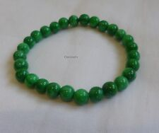Genuine natural Han Green Jade (cold jade) 6mm round beads bracelet