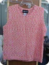 SAG HARBOR NEW WITH TAGS TEXTURED ORANGE SWEATER TOP SLEEVELESS SMALL