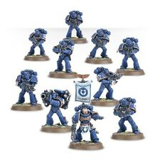 Warhammer 40000 48-07 Space Marine Tactical Squad 10 x Mini Figures Kit T48Post