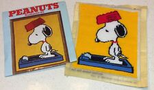 Snoopy Peanuts Completed Needlepoint Weight Watcher Malina 8 X 10 Vtg