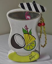 Betsey Johnson Kitsch Pina Colada Clutch Wristlet