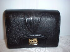 NWT Coach Madison Leather Compact Clutch Wallet Black
