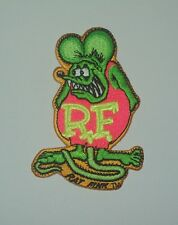 """OFFICIALLY LICENSED ED """"BIG DADDY"""" ROTH RAT FINK HOT ROD PATCH GREEN & PINK"""
