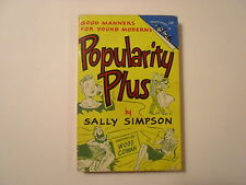 Popularity Plus, Sally Simpson, Good Manners, Pocket Paperback, 1950, 1st Print