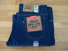 VINTAGE ORIGINAL DEADSTOCK LEVIS 517 BOOT CUT JEANS 1980's W42 L32 MADE IN USA