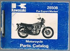 KAWASAKI Z 650-B1/B2 PARTS MANUAL 1977 VERY USABLE CONDITION