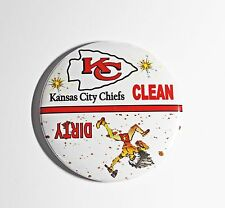 "3""--NFL Kansas City Chiefs Football-Clean/Dirty Dishwasher Magnet"