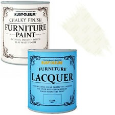 Rust-Oleum Chalky Furniture Paint Chic Shabby 750ml Antique White 125ml Lacquer