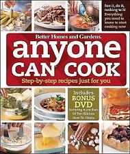 Anyone Can Cook : Step-by-Step Recipes Just for You by Better Homes and Grd +DVD