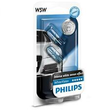 T10 / W5W 12V 4300K PHILIPS WHITE VISION WHITE LIGHT HALOGEN GLOBE